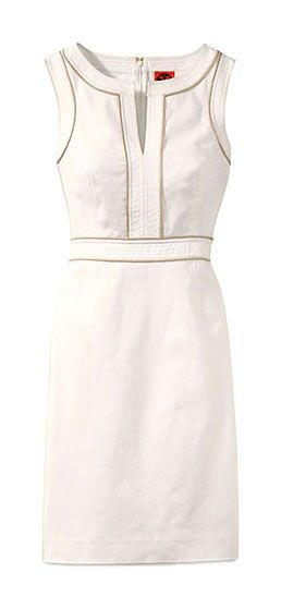 An immaculate column silhouette done in stretch cotton piqué, the Tory Burch Zoie dress will glide through a season's worth of events and always look right.