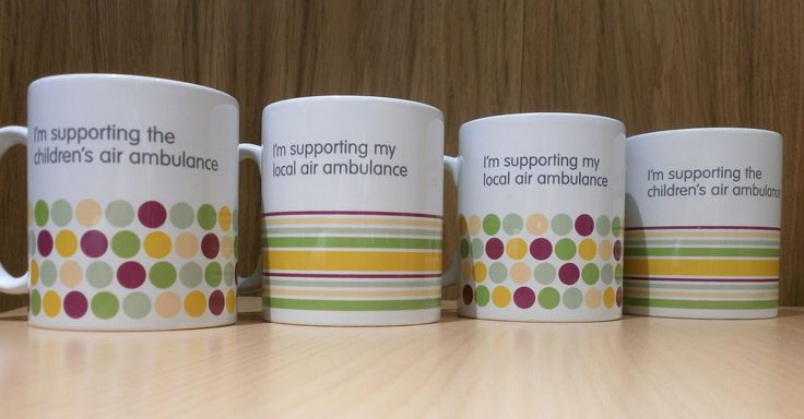 Some great mugs from The Children's Air Ambulance, WN Air Ambulance and DLR Air Ambulance and The Air Ambulance Service who save lives across the country! https://www.theairambulanceservice.org.uk/