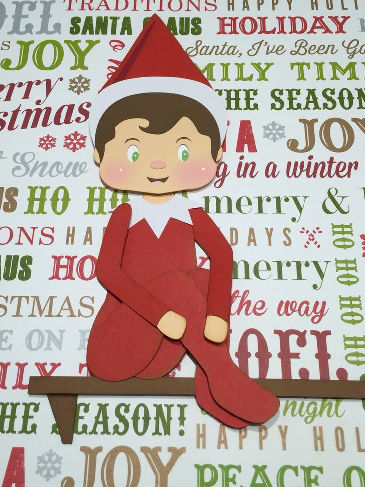 Elf on the Shelf created with our paper piecing SVG file