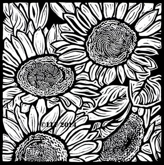 Black And White Linoleum Art