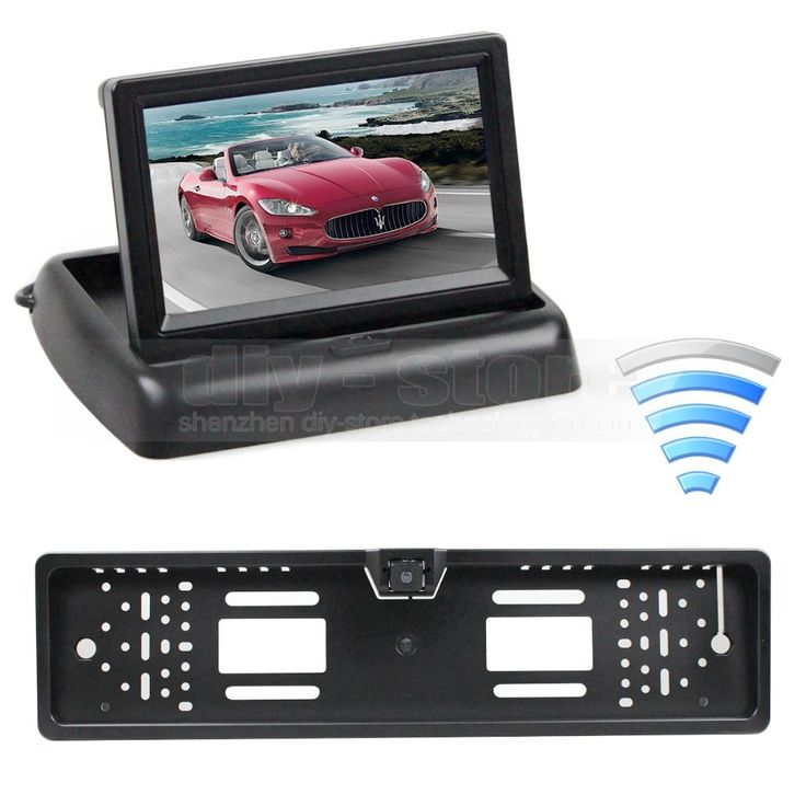 54.38$  Buy here - http://ali0iz.shopchina.info/1/go.php?t=1498822321 - Wireless Foldable 4.3 inch LCD Display Car Monitor + Waterproof European Car License Plate Frame Rear View Backup Camera  #buychinaproducts