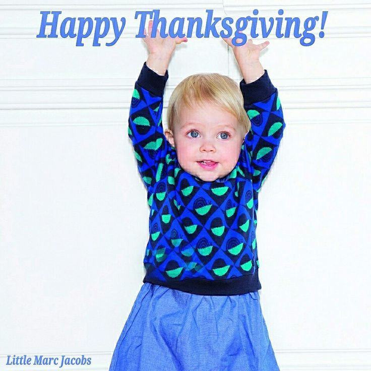 We are closed today but we wish everyone who celebrates, a very happy Thanksgiving!  (dress by Little Marc Jacobs.. Available in baby and toddler sizes)