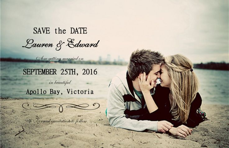 Save the Date - Personalised Postcards by KleezPrints on Etsy
