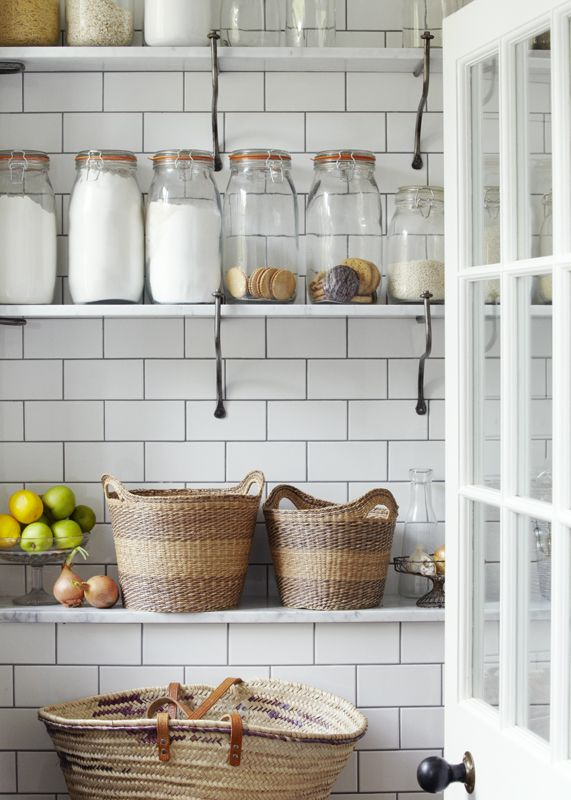 I just thrifted some of these vintage jars...now all I need for my kitchen are the subway tiles | Sarah Kaye
