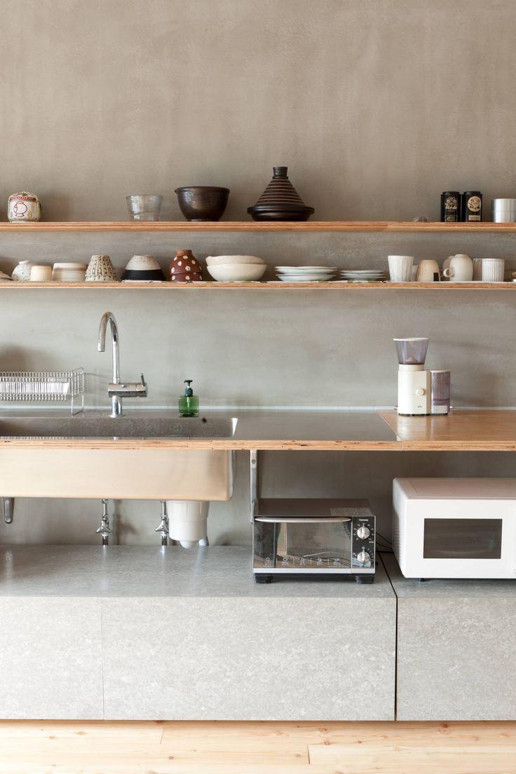 苅部 寛子建築設計事務所 /OFFICE OF KARIBE HIROKO の ラスティックな キッチン SUGAWAHOUSE