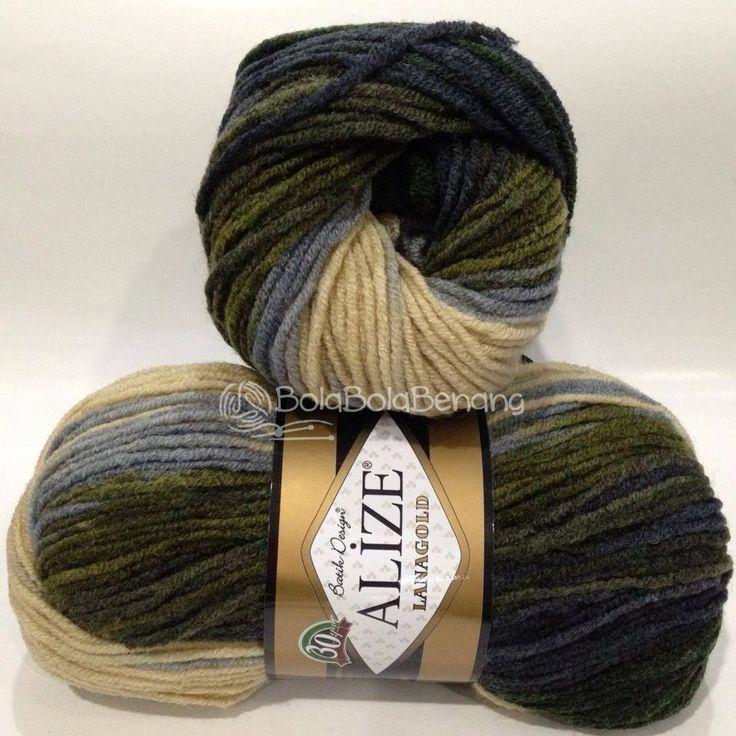 LANAGOLD BATIK 4292, Price: Rp.100.000,- /gulung, Bahan: 49% Wool – 51% Acrylic, Berat/Panjang: 100gr/240m, Knitting Needles: 4mm –6mm, Crochet hook: 5mm - 6mm
