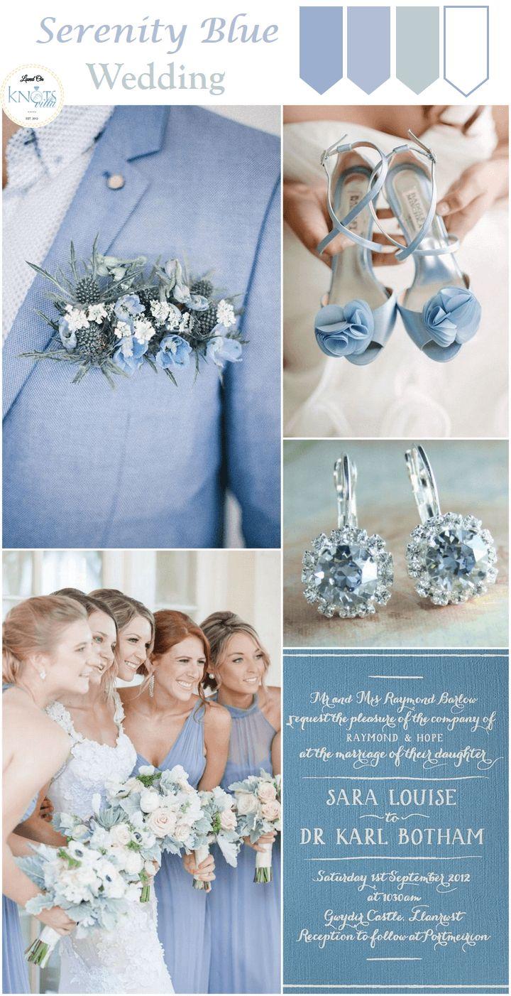 Serenity Blue Wedding Inspiration - KnotsVilla