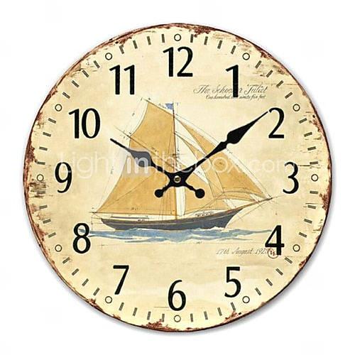 Nautical wall clock navigator 39 s style pinterest wall for Seashell wall clock