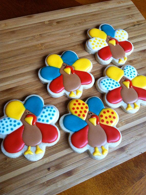 Thanksgiving sugar cookies by Heidissweetshoppe
