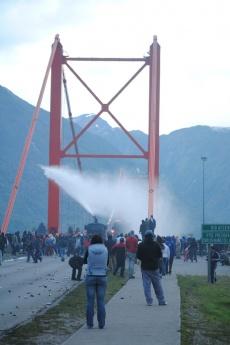 lucha por el puente Presidente Ibáñez