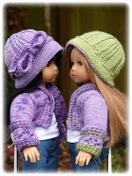 """American Girl 18"""" Doll knitted cap and sweater patterns. Wish I could knit!"""