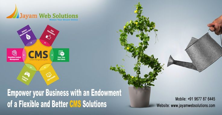 Get CMS(Content Management System) for your website : Wordpress website development, Joomla website development, Magento website development etc., http://www.jayamwebsolutions.com/content-management-systems-website-designing-chennai.php