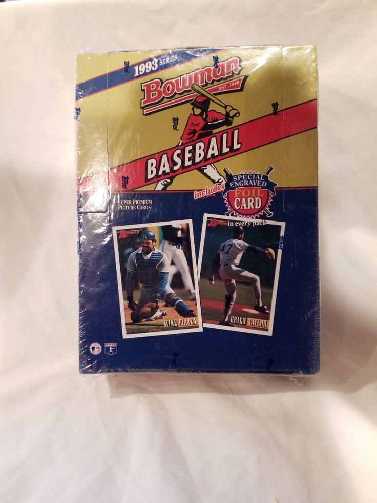 1993 sealed boxed bowman baseball cards mercari bowman