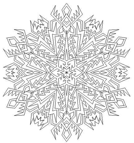 snowflake mandala by mandalamama on deviantart coloring. Black Bedroom Furniture Sets. Home Design Ideas