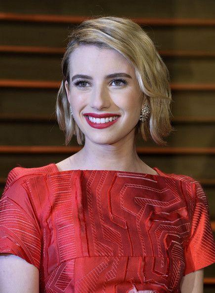 Emma Roberts bob for fine hair