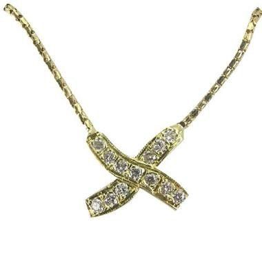"""Platinum X Shape Pendant Da'Carli. $1310.00. Call 1(888) 527-9422 for a different combination of gemstones, 18k, Yellow Gold, or Platinum. When calling, please, provide the model number: 9637ALT03. Free Standard Shipping with this item!. This Pendant is set with 17 GH-SI diamonds weighing 0.25 ct. (All diamonds 0.75 ct and up with a color range of D-I are GIA Certified). 3.63 grams total pendant weight in solid platinum. The pendant also comes with a 16"""" long chain ma..."""