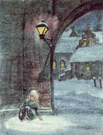 "One of my most favorite stories....  Reach out to the forgotten children...hold them.    Painted by ""Tasha Tudor"" for the book ""The Little Match Girl"""