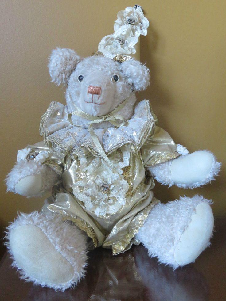 #TeddyBears #Teddy #Bears ROSENBEAR DESIGNS Circus Teddy Bear 1987 Large -Mohair? Artist: Rosenbaum #TeddyBears #Teddy #Bears