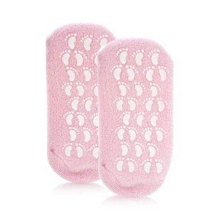 Hollywood Fashion Secrets Spa Gel Booties Pink by Hollywood Fashion Secret. $14.99. Gel lining moisturizes and conditions dry skin!. Non-slip sole.. Lavender oil and vitamin E infused gel.. One size fits most.. Give your feel a spa quality treatment with these gel booties. Fully lined with a moisturizing gel that is infused with lavender oil and Vitamin E, gel booties moisturize and condition dry skin. Just put them on and feel how gel booties soothe overworked tired fe...