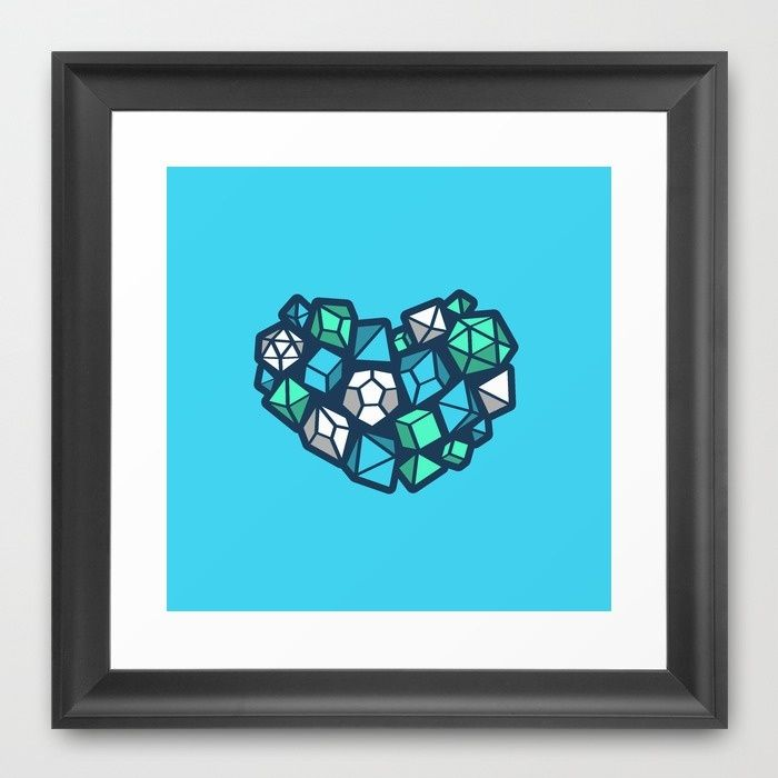 Heart of a Dungeon Master Framed Art Print