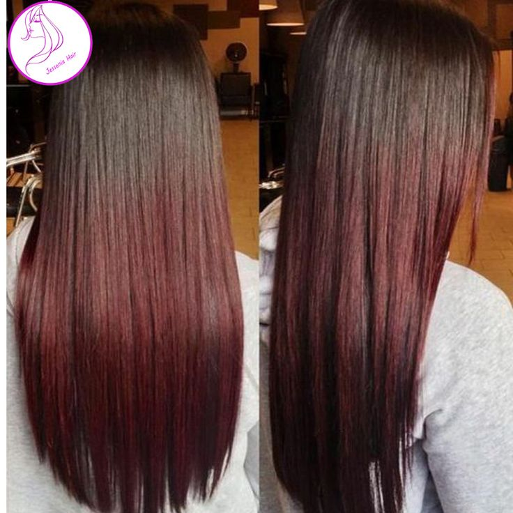 Rosa Hair Products 1B Burgundy Wine Red Hair Weave Bundles 2 tone Virgin Brazilian Straight Hair Ombre Brazilian Hair Extensions