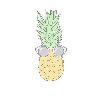 The gallery for cute pineapple stencil for Simple but cute drawings