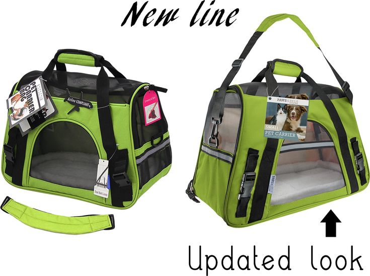 Paws pals dog cat carrier bag green smallmedium