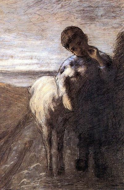 Italiian Painter: Giovanni Segantini (1858 – 1899) 'Young Shepherd With Lamb'