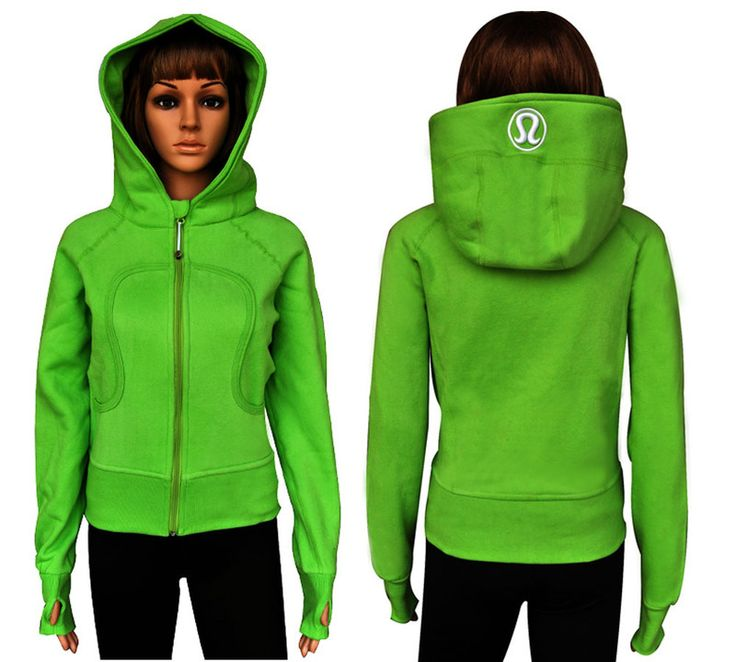 Cheap Lululemon Scuba Hoodie Solid Green Sale Online