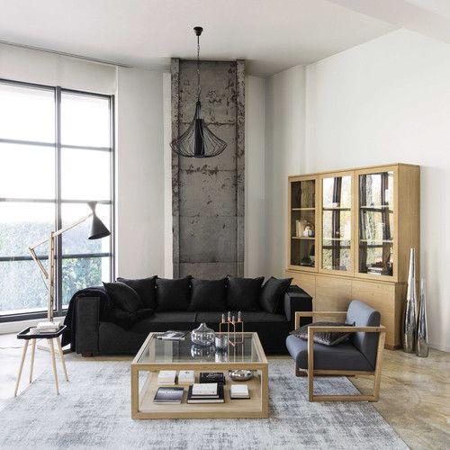 Table basse carrée en chêne français massif L 100 cm