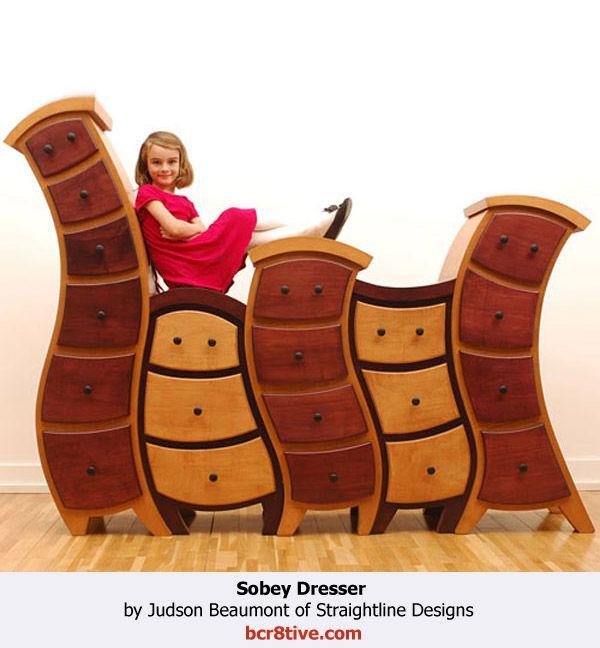 Judson Beaumont Furniture - Sobey Dresser. Dr Seuss like furniture http://www.seussville.com/