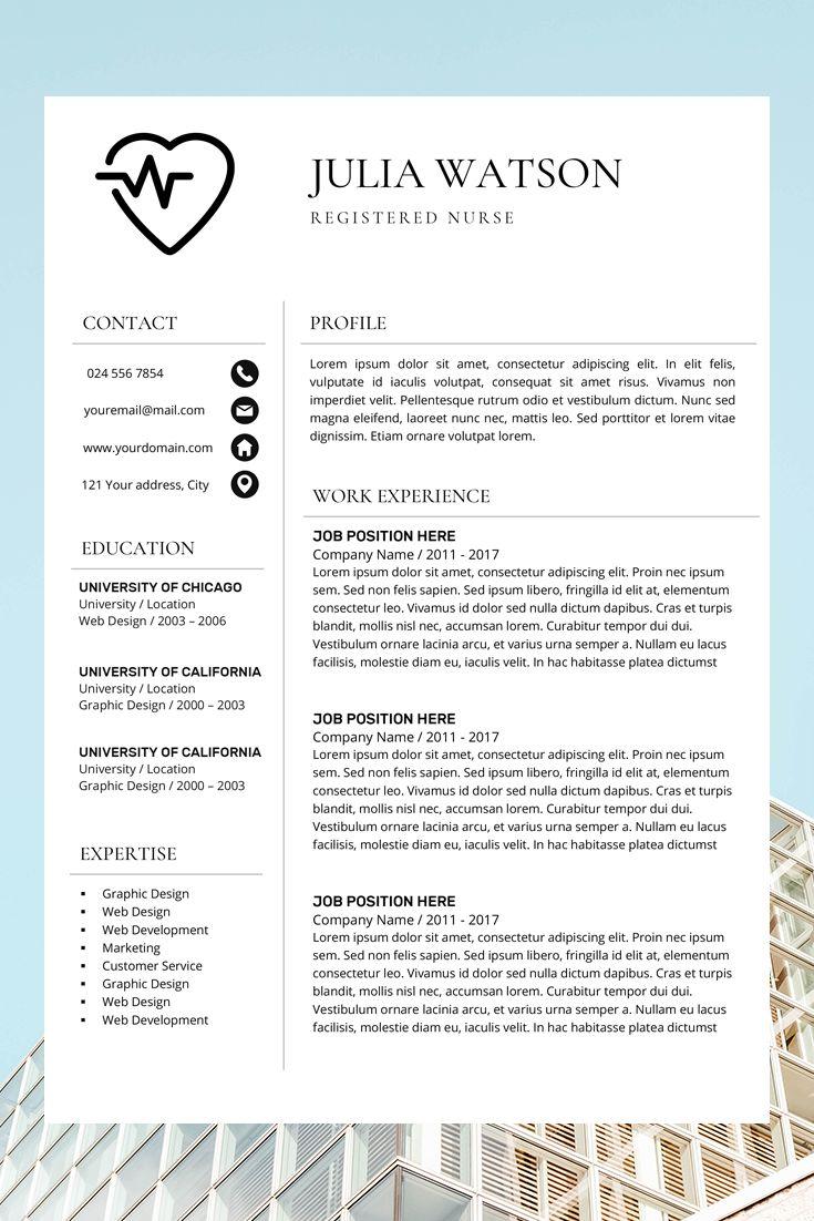 Professional Resume Template Nurse Cv Template Word