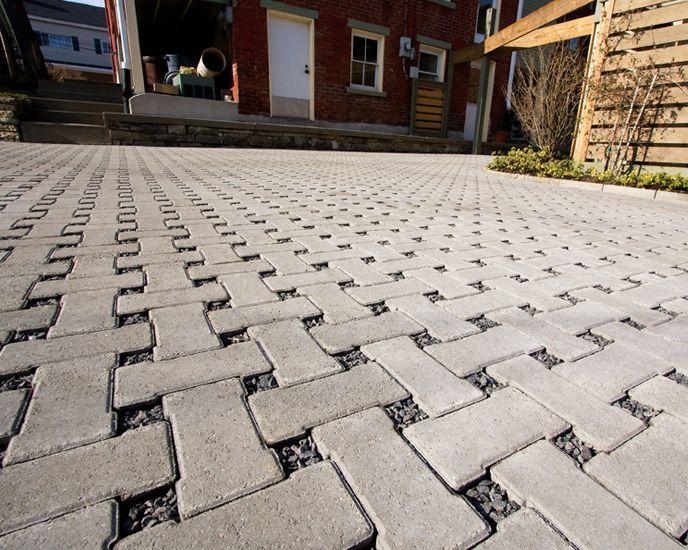 permeable driveway permeable pavers driveway kreinbrook architectural paving - Permeable Patio Ideas