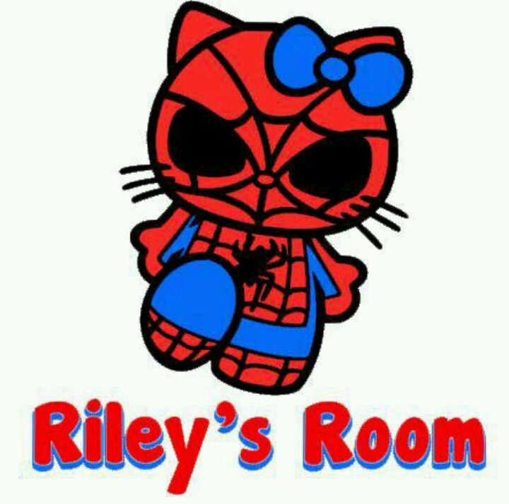 Hello Kitty Spiderman decal