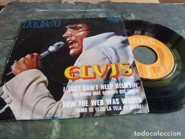 ELVIS PRESLEY - I JUST CAN'T HELP BELIEVIN -HOW THE WEB WAS WOVEN -RCA-1971 (Música - Discos - Singles Vinilo - Rock & Roll)