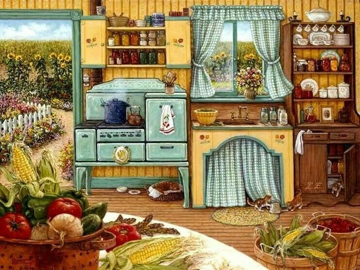 country kitchen sweet art 268 best images about pretty paintings of country 6149