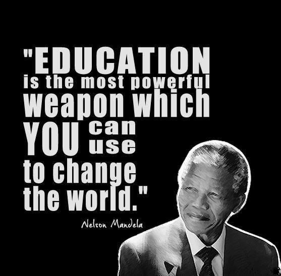-Nelson Mandela. Some people lack the brain function to get their point across, so they bring a gun for intimidation purposes. No brains No guns. The End.