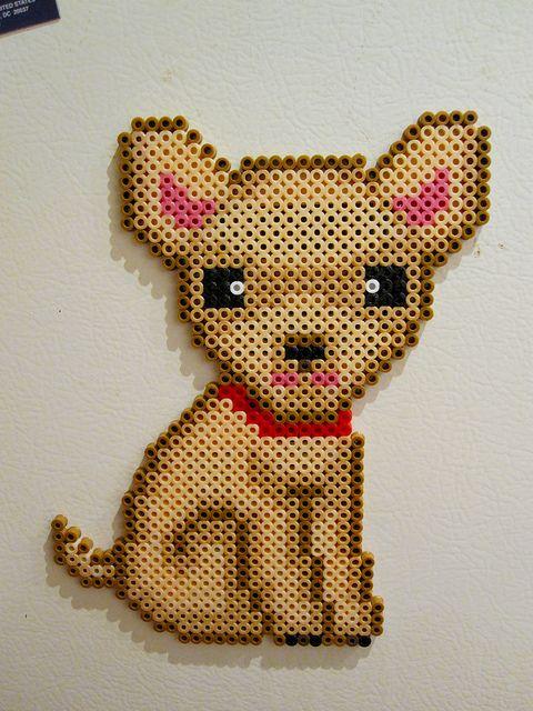 Perler Beads: Chihuahua by Marina N. Neira, via Flickr