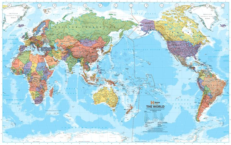 World map for China