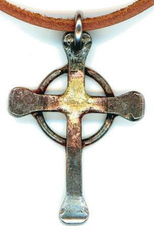 These handcrafted crosses are made from Swedish horseshoe nails. Each of these crosses are welded one at a time to create a cross that is as unique as the person who will wear it. Please NOTE that eac