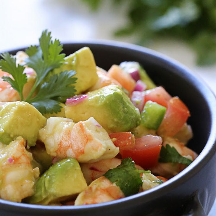 Zesty Lime Shrimp and Avocado Salad Recipe Salads with purple onion ...