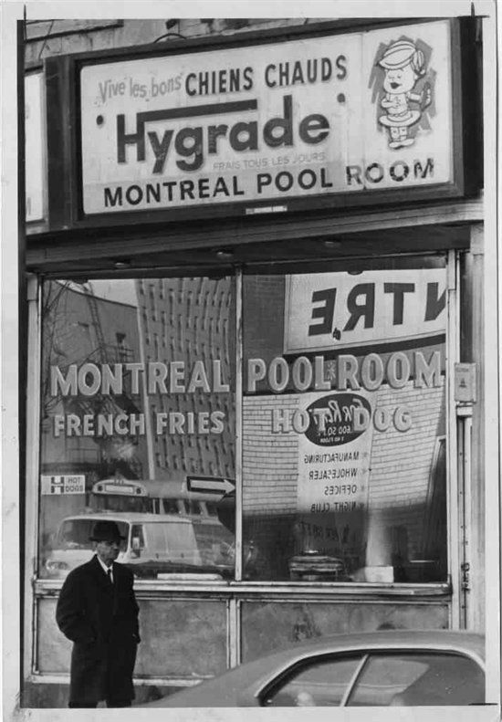 vintage Montreal---I think this was in St-Laurent street. Good Steamies Hot Dog.