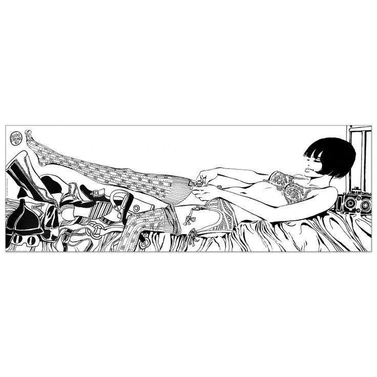 CREPAX - Valentina: cosa mi metto? 138x48 cm #artprints #interior #design #art #prints #fumetti #Valentina  Scopri Descrizione e Prezzo http://www.artopweb.com/EC21523
