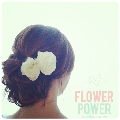 DIY Flower Wrapping for hair... use to do this when I worked as a florist. Looks very nice!