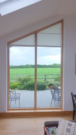 Angled Pleated Blinds fit in North Co Dublin