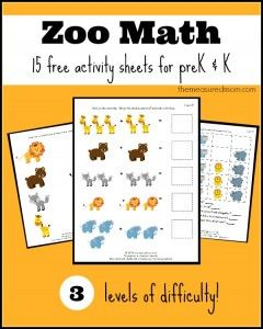 Free Zoo Worksheets for Preschool and Kindergarten - The Measured Mom