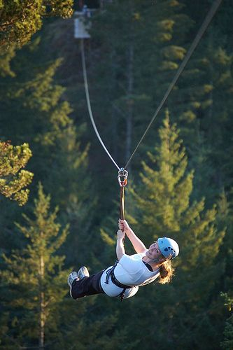 Want to fly through the trees on an amazing zip line? Check out AdrenaLINE Zip Line Adventure Tours! #YouWontBeSorry #Sooke www.youwontbesorry.com