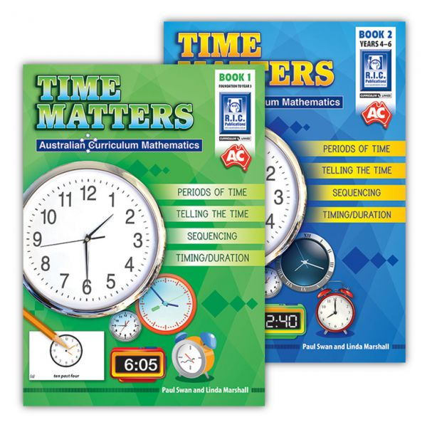 Australian Curriculum Mathematics - Time Matters. Paul Swan and Linda Marshall have combined to create two follow-up books to the popular Money Matters. Following a similar approach, the authors outline how children may be taught time concepts, ranging from telling the time to the language of time and more complex ideas.