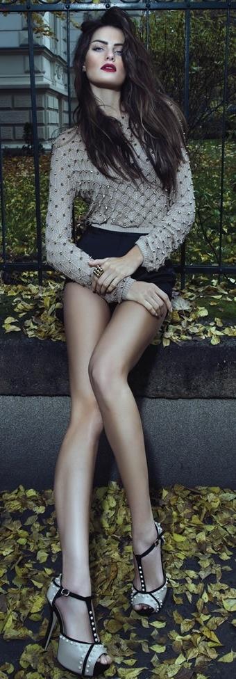 Isabeli Fontana for Morena Rosa Shoes