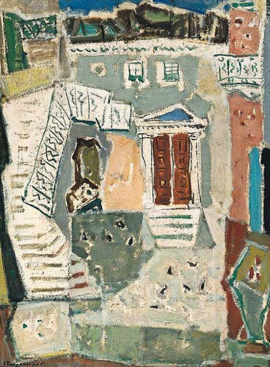 Giannis Spyropoulos - Houses in Hydra, 1953
